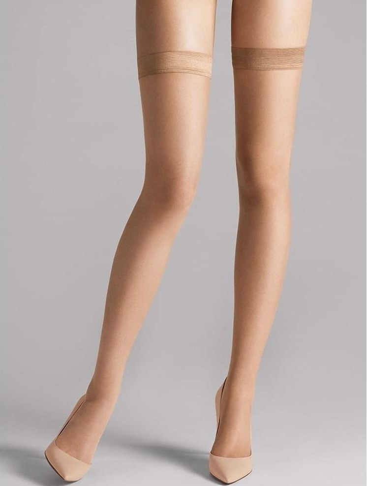 Wolford Naked 8 Stay-Up - Mujer caramel, L 8 den